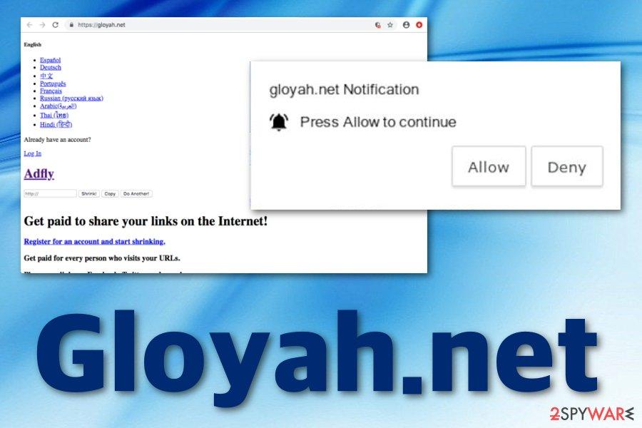 Gloyah.net virus