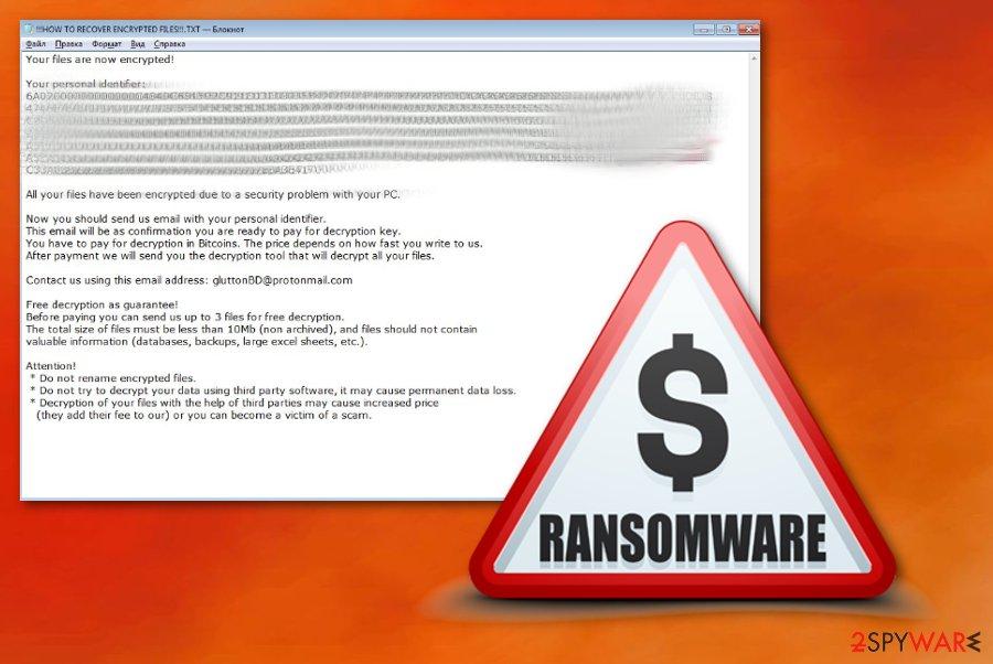 Glutton ransomware virus