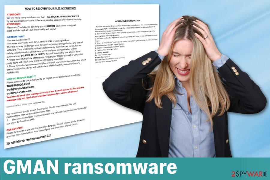GMAN ransomware virus