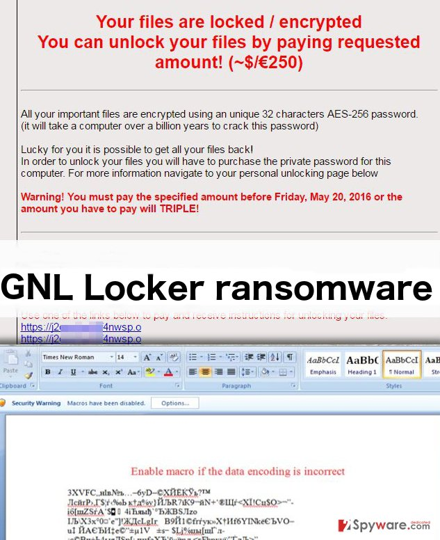 An illustration of the GNL Locker ransomware virus