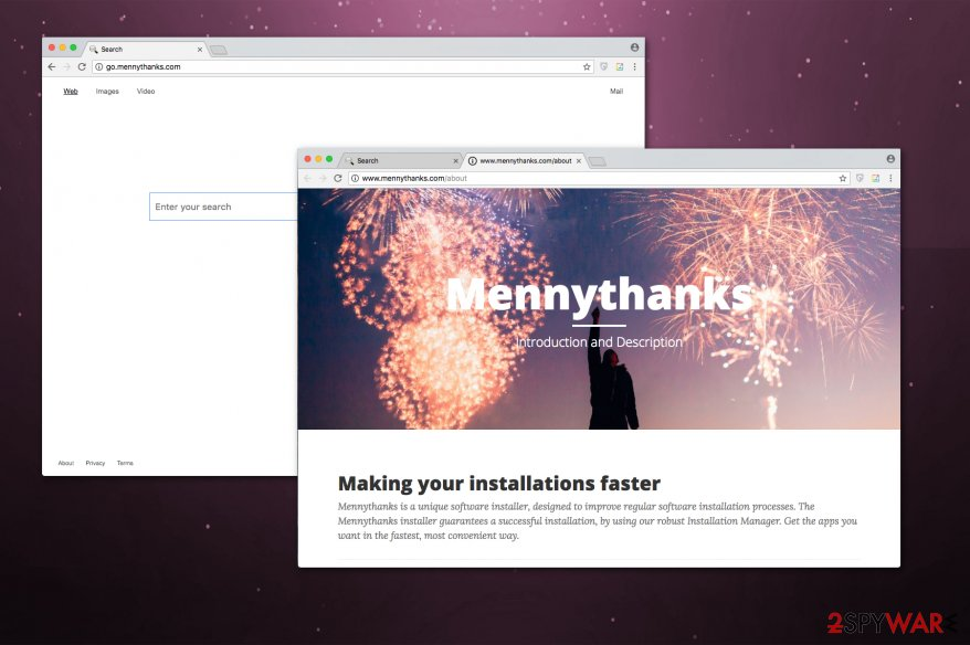 Go.mennythanks.com browser hijacker picture