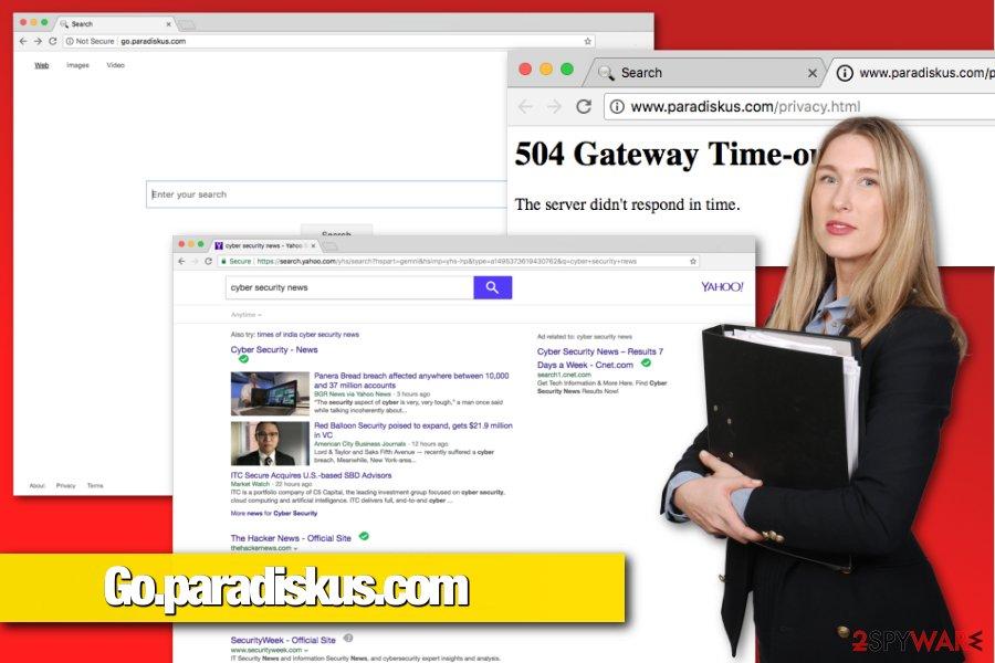 Go.paradiskus.com browser hijacker