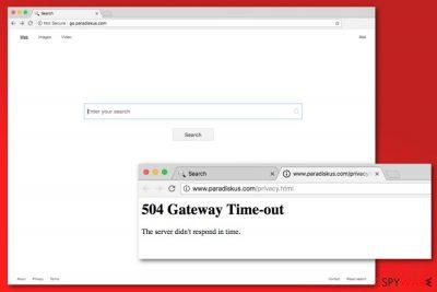 Go.paradiskus.com virus example