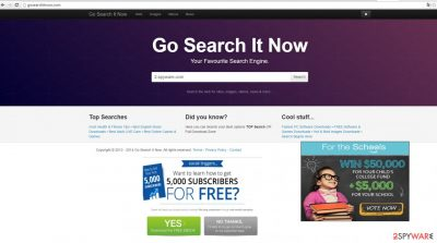 The picture showing Gosearchitnow.com
