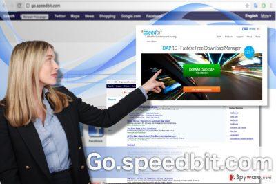 Picture illustrating Go.speedbit.com hijacker