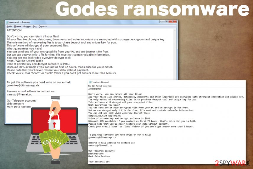 Remove Godes ransomware (Free Guide) - Decryption Methods
