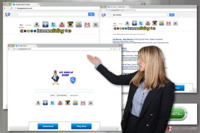 The image of Goeaglesearch.com virus
