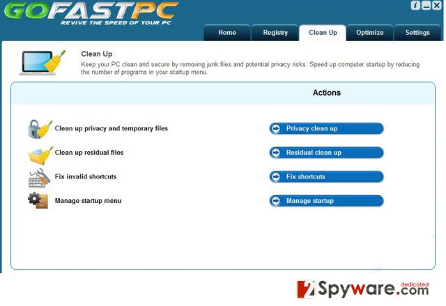 GoFastPC snapshot