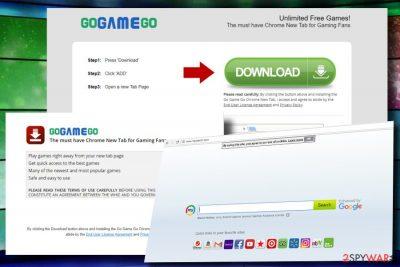 GoGameGo toolbar hijacks Chrome