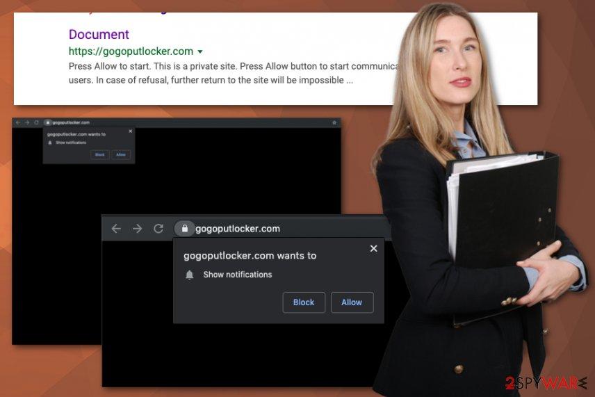 Gogoputlocker.com virus