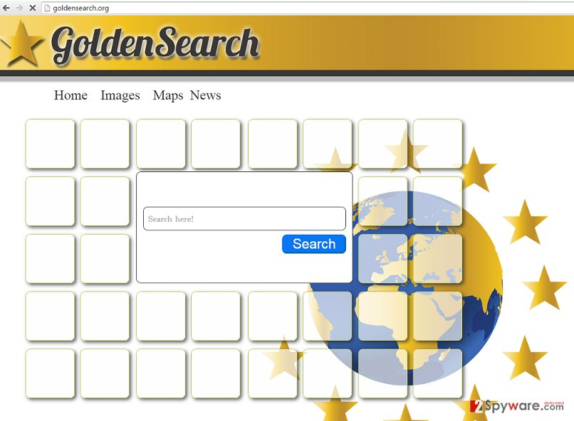 Goldensearch.org redirect