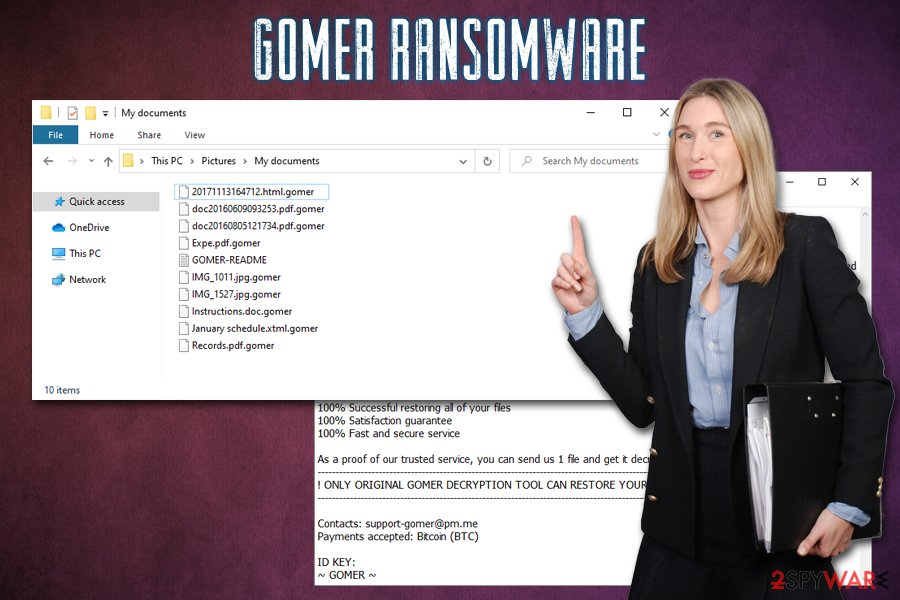 Gomer ransomware virus