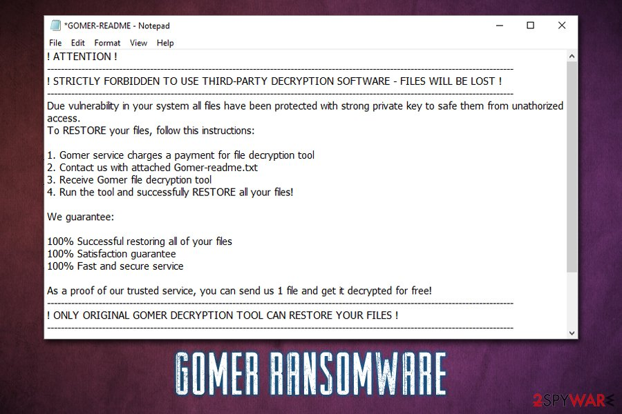 Gomer ransomware