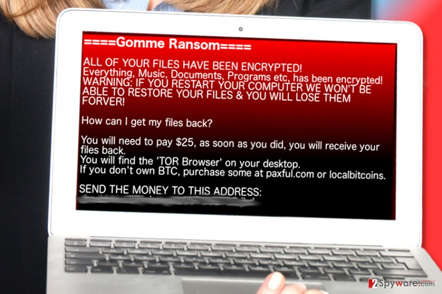 Gomme ransomware
