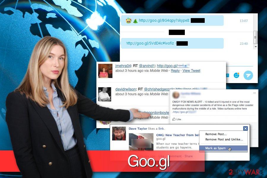 Goo.gl malware examples