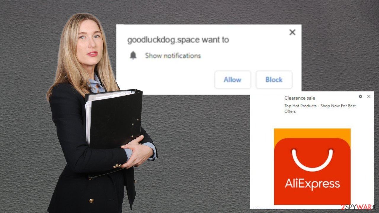 Goodluckdog.space ads