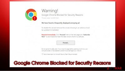 Google Chrome Blocked for Security Reasons