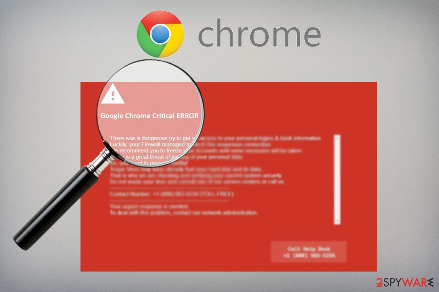 Google Chrome Critical Error adware