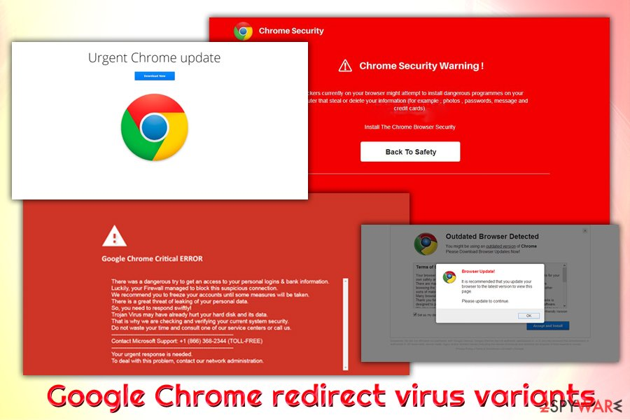 Google Chrome virus variants