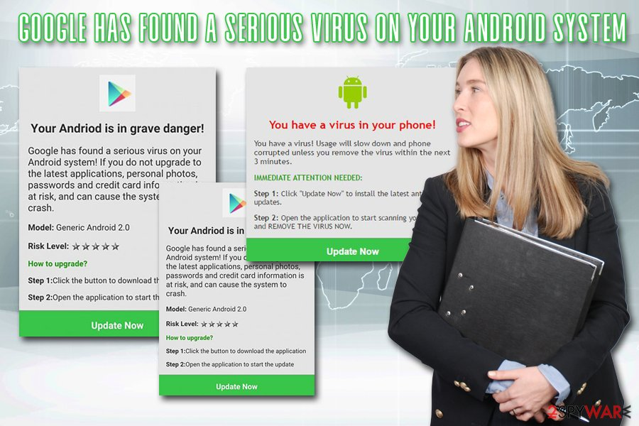 Google has found a serious virus on your Android system scam