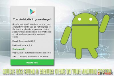 Google has found a serious virus on your Android system