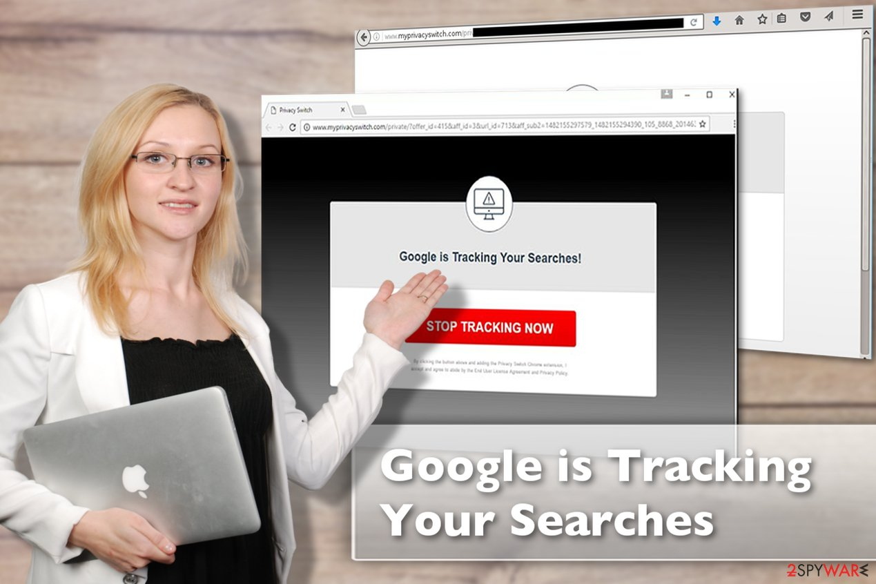 Image of the Google is Tracking Your Searches virus