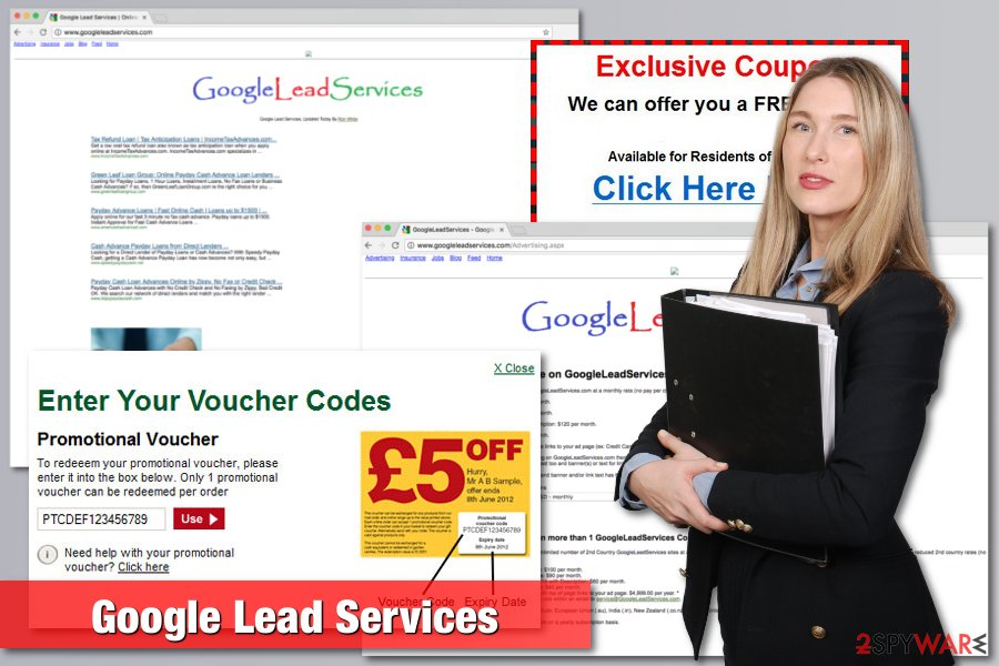 The picture of Google Lead Services virus