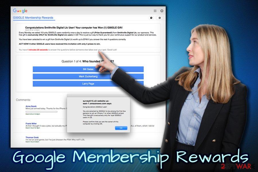 Google Membership Reward survey scam