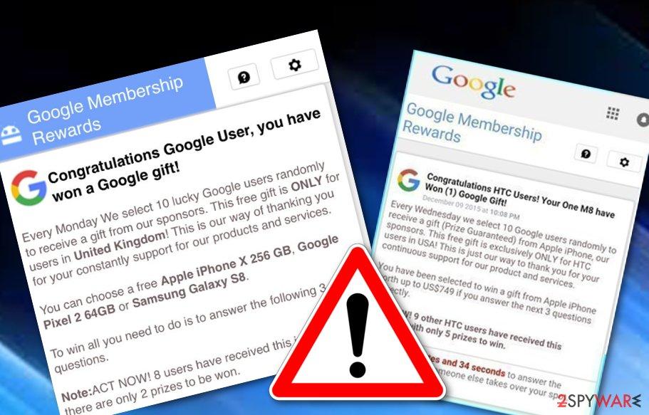 Google Membership Rewards scam
