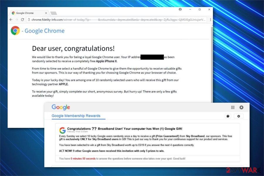 Google Prize scam image