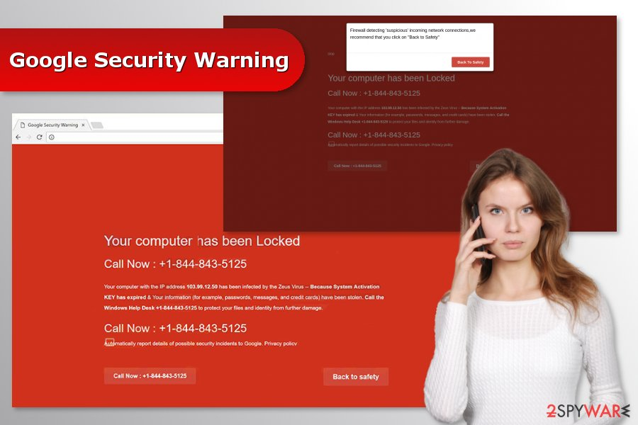 "The illustration ""Google Security Warning"" virus"