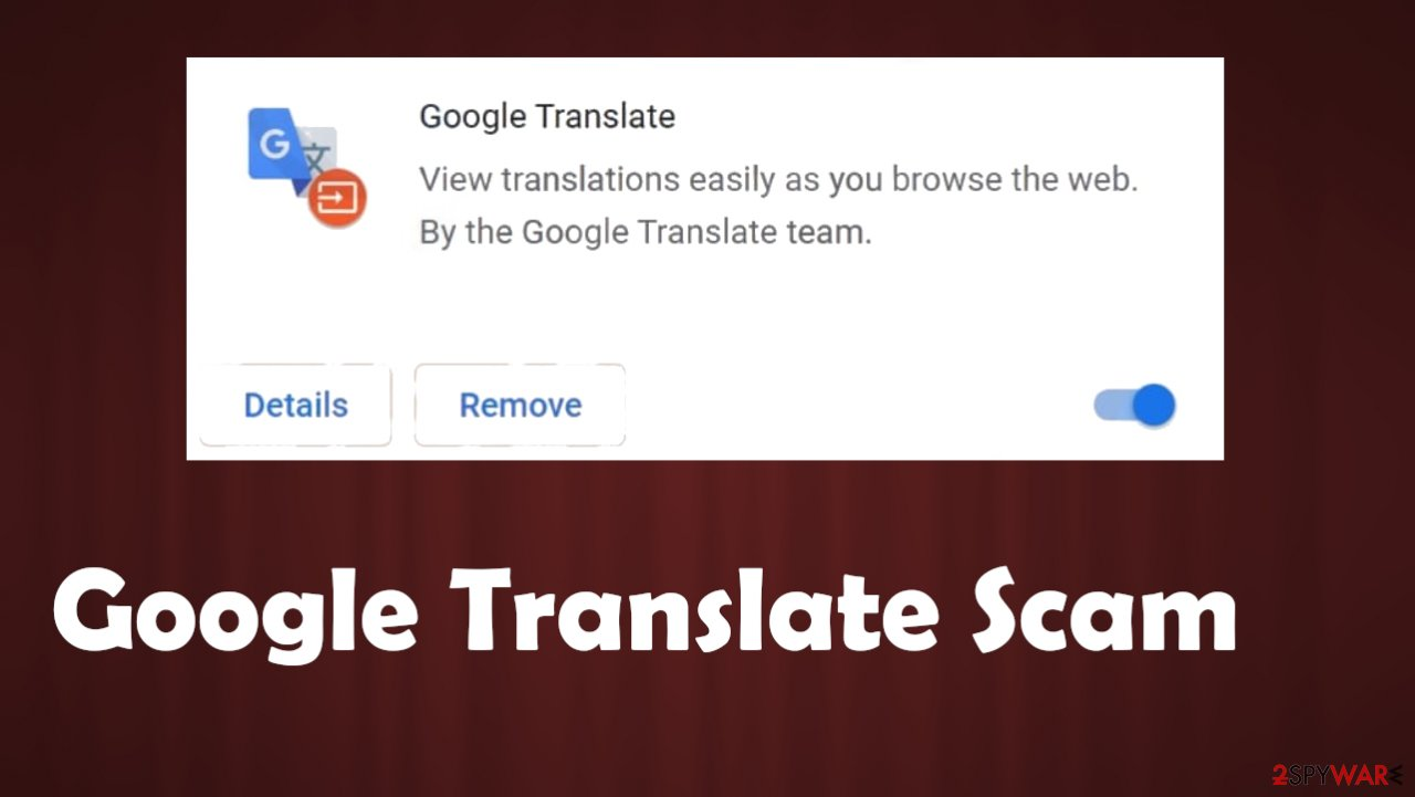 Google Translate scam