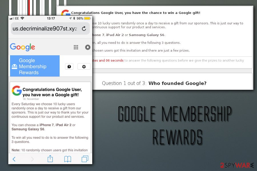 Google virus Membership  rewards
