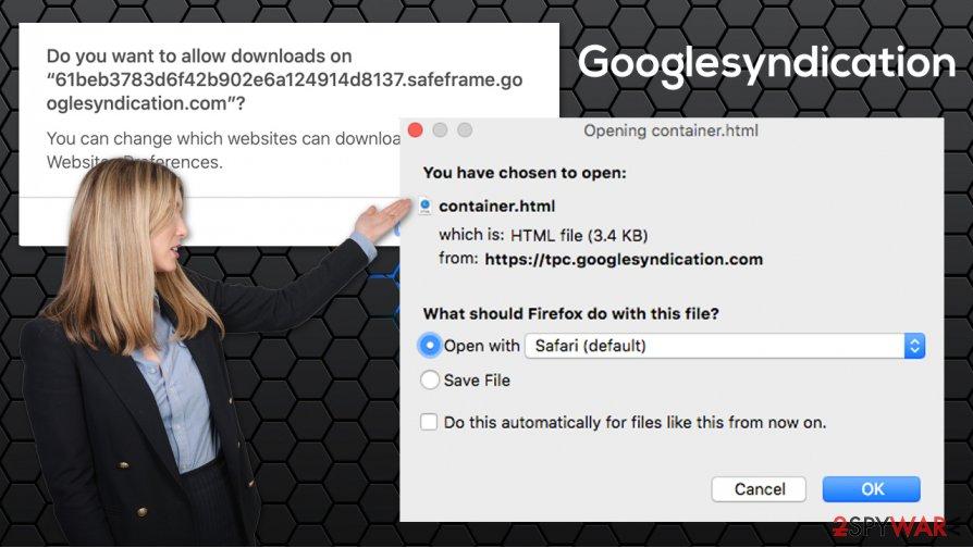 Googlesyndication popup
