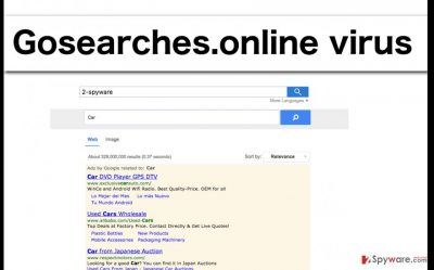 An illustration of the Gosearches.online browser hijacker virus