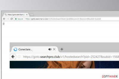 Example of Goto.searchpro.club redirects