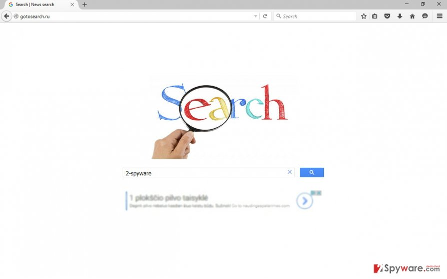 The picture of Gotosearch.ru virus