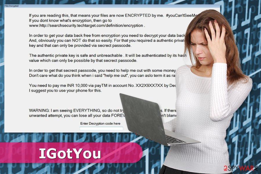 IGotYou ransomware virus attack