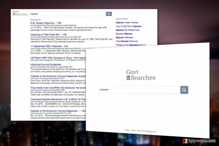 Govtsearches.com virus