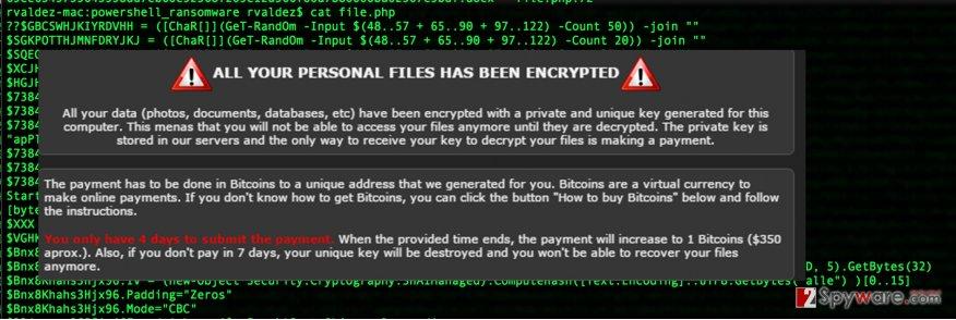 The screenshot of Green_Ray virus