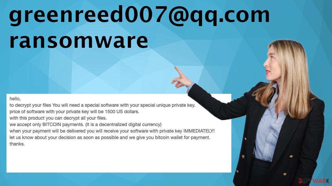 greenreed007@qq.com ransomware virus