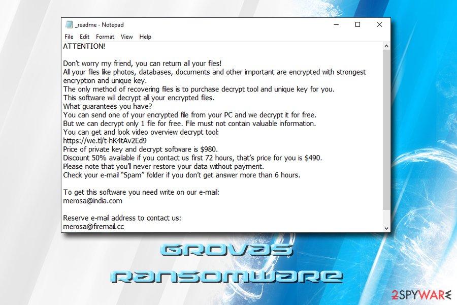 Grovas file virus