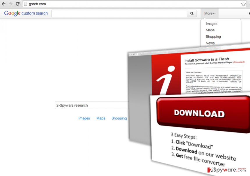 Be careful if Gsrch.com hijacks your web browser