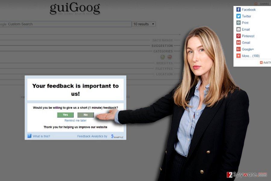 The demonstration of GuiGoog hijacker