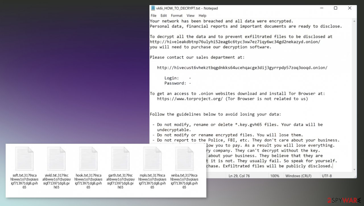 Gvh65 ransomware