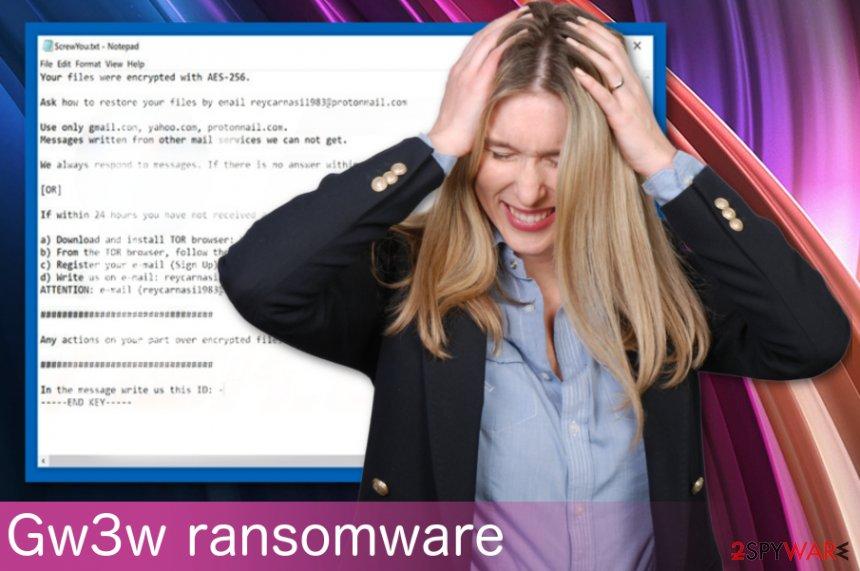 Gw3w ransomware virus