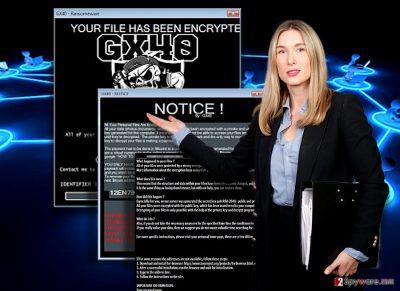 The image illustrating Gx40 ransomware