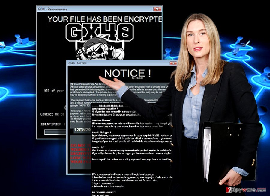 The image illustrating Gx40 ransomware