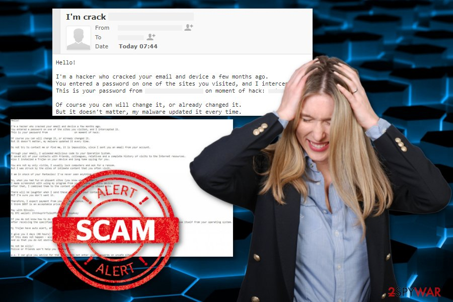 Hacker who cracked your email scam virus