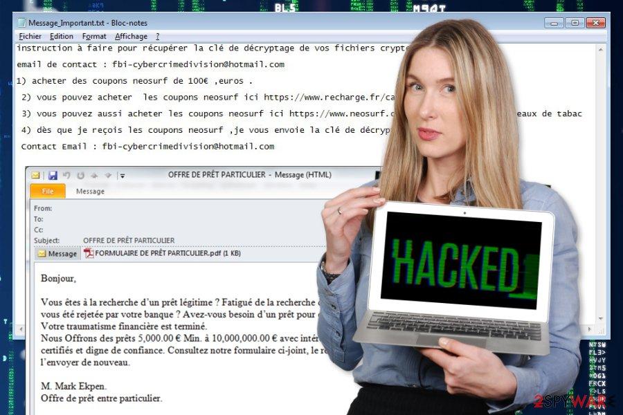 Hacking ransomware virus image